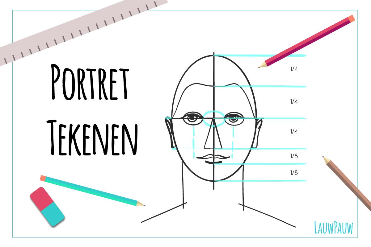 Favoriete Portret tekenen basis: de verhoudingen van het gezicht. &LZ84